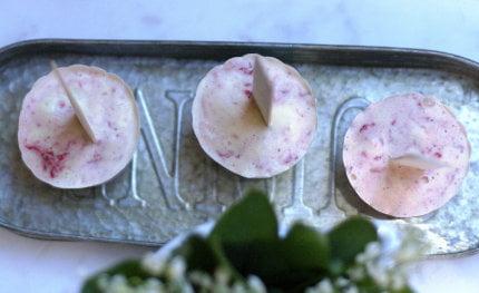 Jaglane, pyszne lody truskawkowo-rabarbarowe – bo dzieci lubią lody!