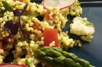 Kasza jaglana z chrupiącymi warzywami