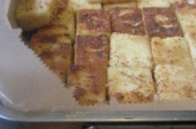 Kasza manna jak polenta z serem, pomidorami i pieczarkami