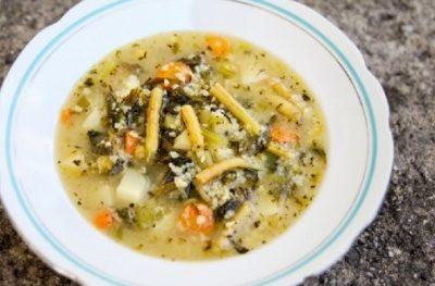 Zupa z fasolki szparagowej z kaszą jęczmienną